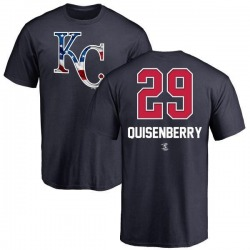 Youth Dan Quisenberry Kansas City Royals Name and Number Banner Wave T-Shirt - Navy